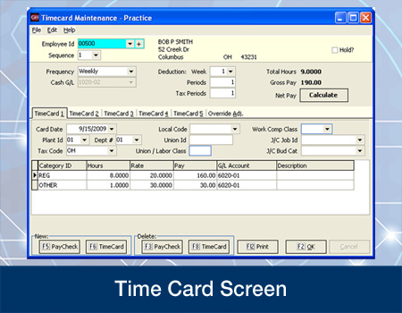 Payroll Time Card